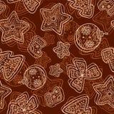 Christmas dark chocolate seamless pattern Royalty Free Stock Photo