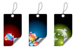Christmas dark labels Royalty Free Stock Images