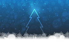 Christmas on darkblue background Royalty Free Stock Photography