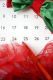 Christmas date Royalty Free Stock Photo