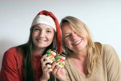 christmas daughter mother στοκ φωτογραφία