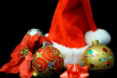 After Christmas Day. This is a close up of several christmas decoration items Royalty Free Stock Photos