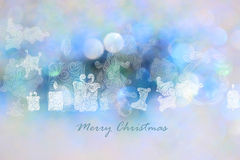 Christmas day backgrounds with blue bokeh backgrounds. Royalty Free Stock Photo