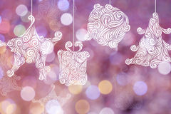Christmas day backgrounds with pink bokeh backgrounds. Royalty Free Stock Image