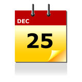 Christmas day calendar royalty free stock photo