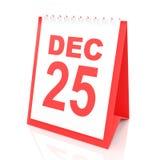 Christmas day calendar, 3d render Stock Photo