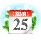 Christmas Day Calendar Royalty Free Stock Photography