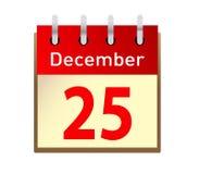 Christmas day calendar Stock Photography