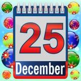 Christmas Day Calendar. Royalty Free Stock Photo