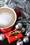 Christmas Day Coffee Stock Photography