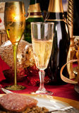 Christmas day dinner table Royalty Free Stock Photo