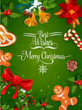Christmas Day holiday poster or frame design Royalty Free Stock Image