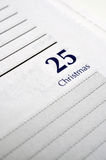 Christmas Day on Personal Planner Royalty Free Stock Images