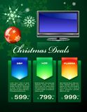 Christmas deals flyer Royalty Free Stock Image