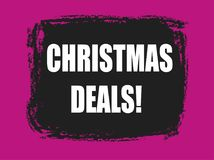 Christmas deals banner Royalty Free Stock Photo
