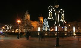Christmas in Debrecen stock photo