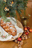 Christmas decaration. Christmas decoration with angles and needles Stock Photo