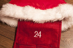 Christmas 24 12. December, on wooden background Royalty Free Stock Image