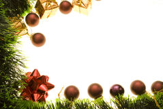Christmas decor. Christmas-tree decor isolated on white. Copy space for your text royalty free stock images