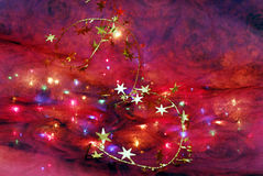 Christmas decor. An artistic shot of a colorful festive background Royalty Free Stock Photography