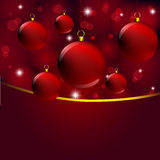 Christmas decor on abstract red light Royalty Free Stock Photography