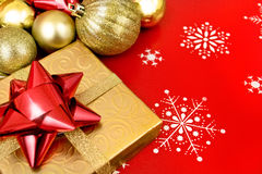 Christmas decor background Stock Images
