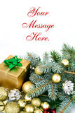 Christmas decor background Royalty Free Stock Photo