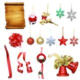 Christmas decor collection Royalty Free Stock Photo