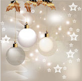 Christmas decor. Ation with stars and hanging lanterns Royalty Free Stock Photography