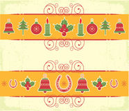 Christmas decor elements for design. New year image Stock Photography