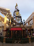 Christmas decor at Fashion Valley Mall in San Diego, California Royalty Free Stock Images
