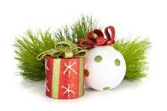 Christmas decor and firtree Stock Photo