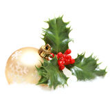 Christmas Decor and Holly Stock Photography