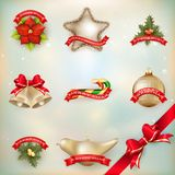 Christmas decor Objects collection. EPS 10 Royalty Free Stock Photography