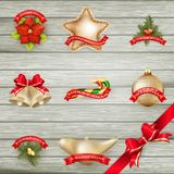 Christmas decor Objects collection. EPS 10 Royalty Free Stock Images
