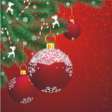 Christmas Decor On Red Royalty Free Stock Photography