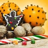 Christmas decor and orange Stock Image