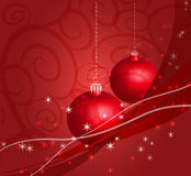 Christmas decor red. Red Cristmas decor with snoflakes Stock Photography