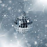 Christmas decor - reflected ball stock photos