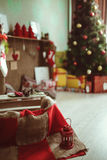 Christmas Decor room Stock Photos