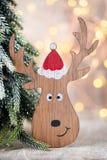 Christmas decor with santa hat. Holiday bohek background. Royalty Free Stock Photos