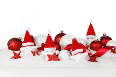Christmas decor on snow Stock Photo