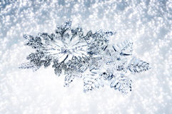 Christmas decor snowflakes stock photo