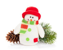 Christmas decor and snowman toy Royalty Free Stock Image
