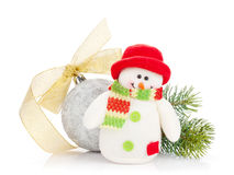 Christmas decor and snowman toy Stock Images