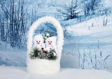 Christmas Decor - Snowmans Royalty Free Stock Photo