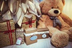 Christmas Decor  teddy bear. My home decor Stock Images
