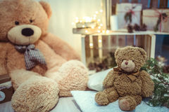 Christmas Decor  teddy bears Royalty Free Stock Photos