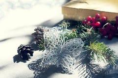 Christmas decor with toning Stock Photo