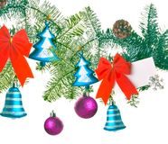 Christmas  decor on a white background Stock Photo